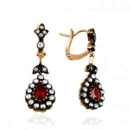 Ruby Rose Cut Diamond Earring