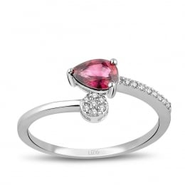 0.60 Carat Diamond Ruby Ring