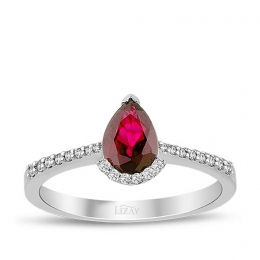 1.24 Carat Diamond Ruby Ring
