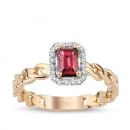 0.88 Carat Diamond Ruby Ring