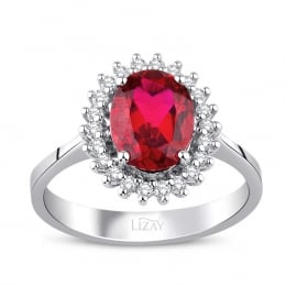 2.27 Carat Diamond Ruby Ring