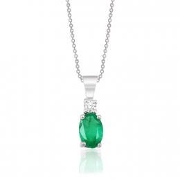 Emerald Diamond Pendant
