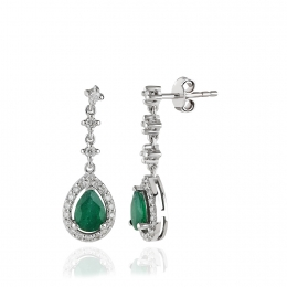 Diamond Emerald Earring