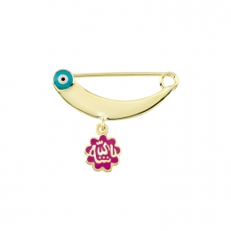 Gold Baby Collar Pin
